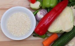 Alimento grezzo sano Fotografia Stock