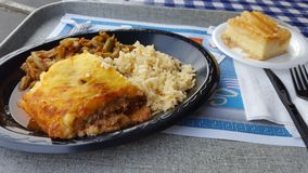 Alimento griego Foto de archivo libre de regalías