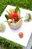 Alimento, griglia delle verdure fotografie stock