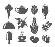 Alimento Grupo do ícone Fotos de Stock