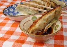 Alimento Gyoza-Chinês fotografia de stock