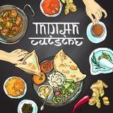 Alimento indiano ilustração royalty free