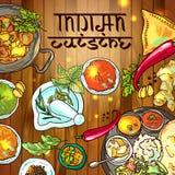 Alimento indiano ilustração stock