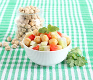 Alimento indiano Chana Chaat Fotografia Stock