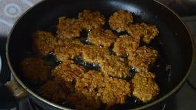 Alimento indiano della via che cucina video video d archivio