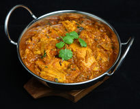 Alimento indiano do caril de Rangoon da galinha fotos de stock