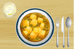 Alimento indiano em uma tabela de madeira Fotos de Stock Royalty Free