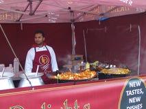 Alimento indiano na exposição Fotografia de Stock Royalty Free
