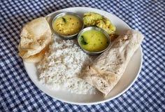 Alimento indiano in ristorante fotografie stock libere da diritti