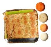 Alimento indiano sul - Rava Masala vegetal Dosa fotografia de stock royalty free