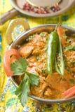 Alimento indio, pollo de la mantequilla fotografía de archivo libre de regalías