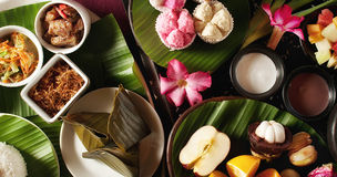 Alimento indonesiano con frutta Fotografie Stock