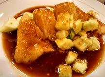 Alimento indonesiano vegetariano con salsa dolce fotografie stock