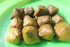 Alimento indonesio Lepet Fotos de archivo libres de regalías