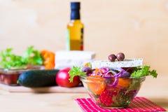 Alimento Insalata della Grecia Fotografie Stock