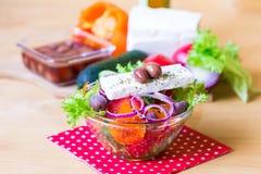 Alimento Insalata della Grecia Immagine Stock Libera da Diritti