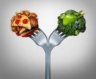 Alimento insalubre e saudável ilustração stock