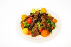 Alimento isolado no fundo branco Foto de Stock
