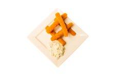 Alimento isolado no fundo branco Foto de Stock Royalty Free