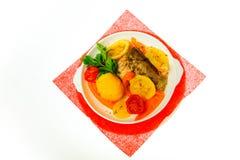 Alimento isolado no fundo branco Imagens de Stock