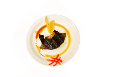 Alimento isolado no fundo branco Fotos de Stock Royalty Free