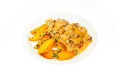 Alimento isolado no fundo branco Fotografia de Stock Royalty Free