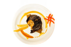 Alimento isolado no fundo branco Imagem de Stock Royalty Free