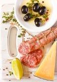 Alimento italiano. fotografia stock