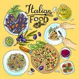Alimento italiano Imagen de archivo libre de regalías