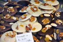 Alimento italiano: biscotti con la castagna Fotografia Stock Libera da Diritti