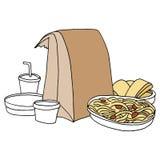 Alimento italiano da portar via royalty illustrazione gratis
