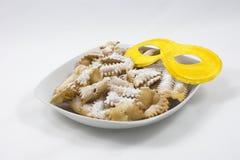 Alimento italiano del dolce di carnevale Fotografie Stock Libere da Diritti
