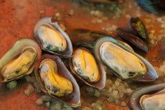Alimento italiano della via, frutti di mare, cozze Immagini Stock Libere da Diritti