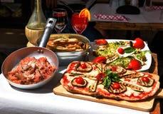 Alimento italiano provado e famoso Foto de Stock