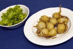 Alimento italiano - Sciatt Imagen de archivo libre de regalías