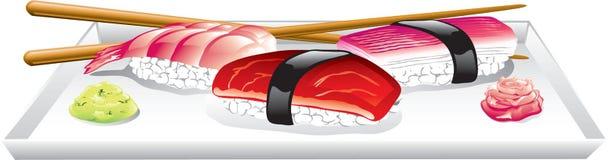 Alimento japonés ilustración del vector