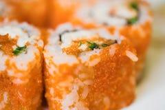 Alimento japonés. Sushi. Fotografía de archivo libre de regalías