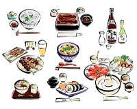 Alimento japonês ilustração stock