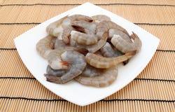 Alimento japonês - camarões crus do tigre do rei do sushi do gourmet Foto de Stock