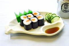 Alimento japonês da foto conservada em estoque, valor máximo de concentração no trabalho fotos de stock royalty free