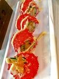 Alimento japonês dos rolos de sushi imagens de stock