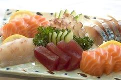 Alimento japonês, Sashimi, menu Fotografia de Stock Royalty Free
