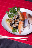 Alimento japonês tradicional - sushi Foto de Stock Royalty Free