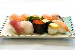 Alimento japonês, vário sushi   imagens de stock royalty free