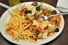 Alimento lasciato su un piatto Fotografia Stock Libera da Diritti