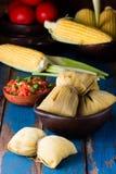 Alimento latino-americano Humitas caseiros tradicionais do milho Imagem de Stock Royalty Free