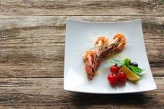 Alimento Lenten da frutti di mare Pegni arrostiti della tigre Fotografie Stock Libere da Diritti