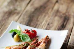 Alimento Lenten da frutti di mare Pegni arrostiti della tigre Fotografie Stock