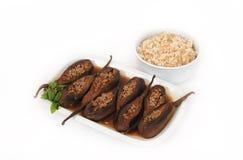 Alimento libanés del calabacín y del arroz rellenos Imagenes de archivo
