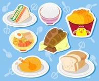 Alimento lindo stickers02 Foto de archivo